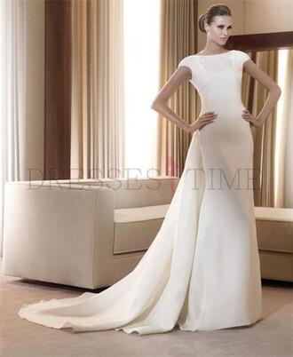 dress wedding dress fashion long prom dress bridal gown wedding clothes fashion dress white dress white
