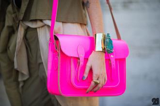 pink bag pink clutch fluo pink