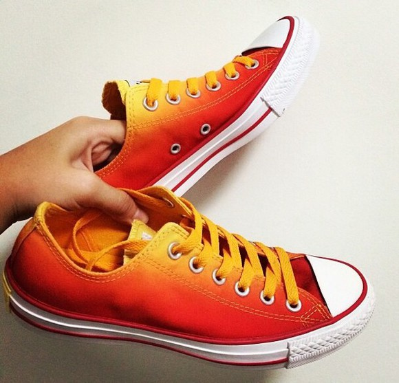 shoes converse ombre sunset