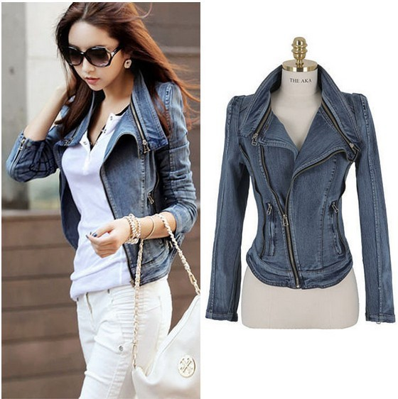 New Fashion Star Jeans Jacket Women Spike Studded Shrug Shoulder Outwear Coats Women Denim Cropped VINTAGE Casual Denim Jacket-in Basic Jackets from Apparel & Accessories on Aliexpress.com
