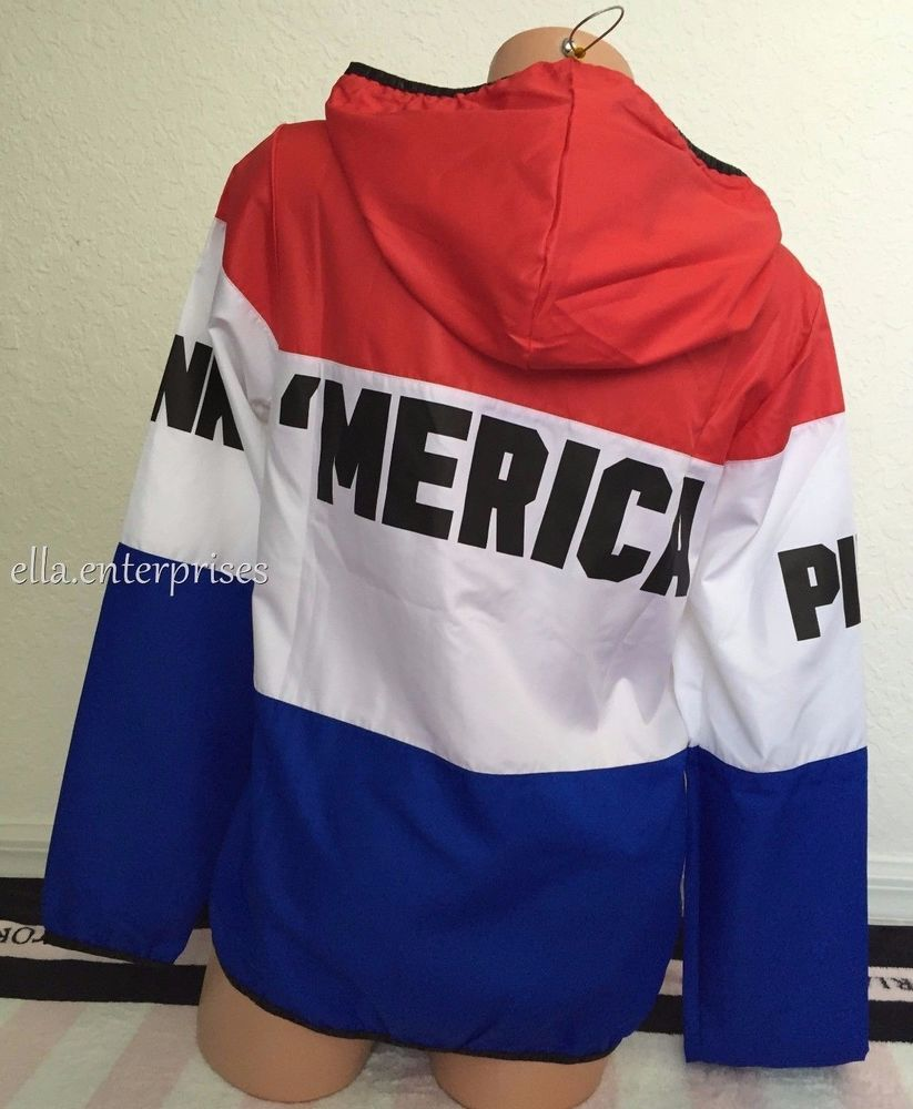 Secret Pink 'Merica Red White Blue Anorak Windbreaker - XS/S, M/L