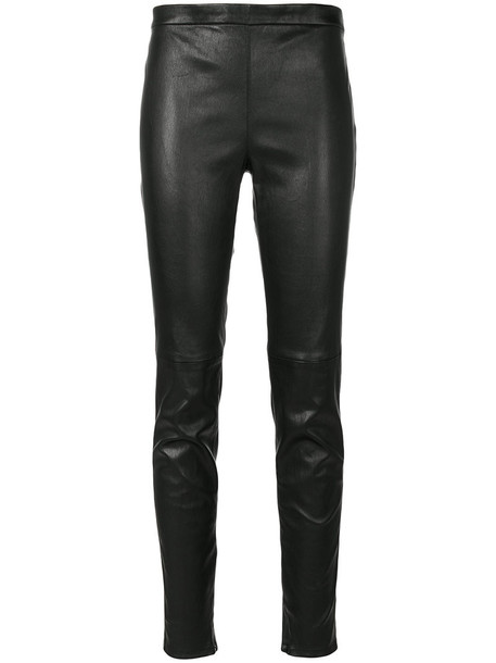 Saint Laurent leggings leather leggings women leather black pants