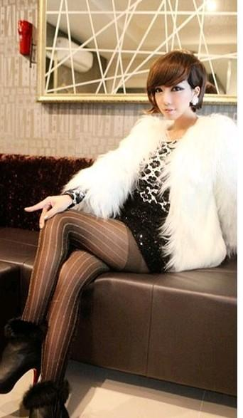 Womens Luxury Faux Fur Trend 7cm Long Hair Winter Coat Cool Jacket Black White | eBay