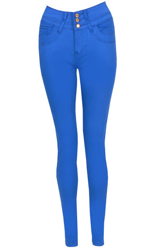 Helen Candy Skinny Jeans In Royalblue - Pop Couture
