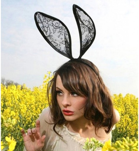 Lace Bunny Ear Headband