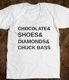 Chocolate & shoes & diamonds & chuck bass