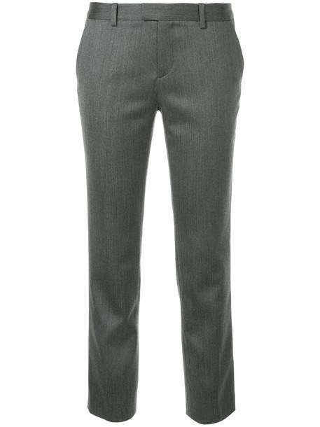 Estnation cropped women wool grey pants