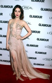 dress,lily collins