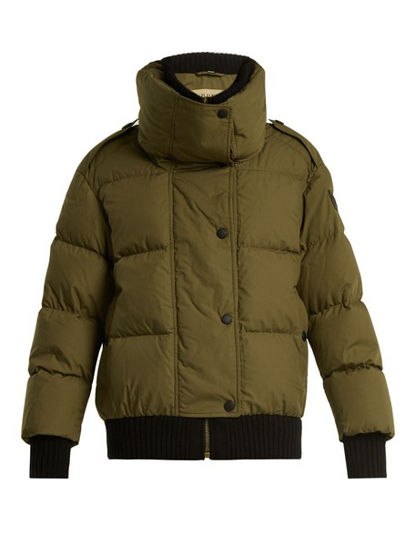 jacket quilted cotton green