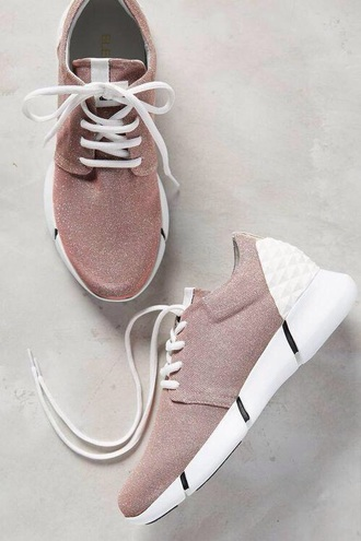 shoes tan white sneakers pink nike nike shoes nike free runs tropical twist womens rose bling women dusty pink low top sneakers pink sneakers
