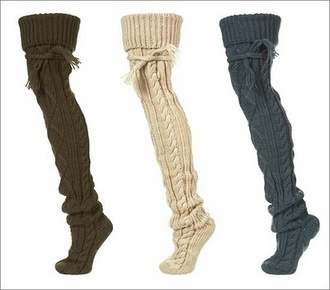 underwear brown cream boots socks comfy cable knit knit cozy grey warm