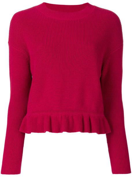 RED VALENTINO jumper women cotton red sweater