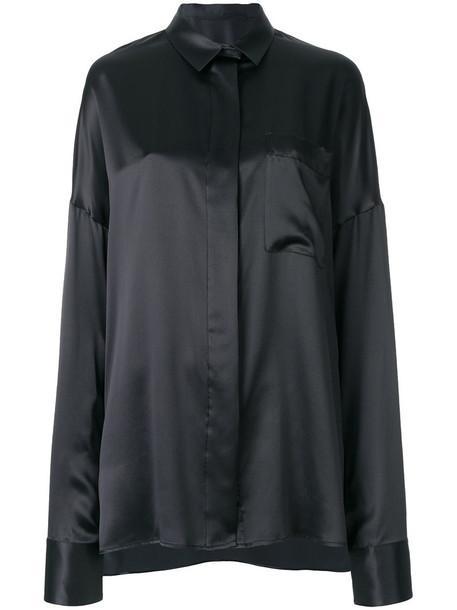Haider Ackermann shirt oversized shirt oversized women black silk top