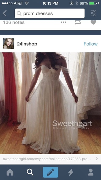 dress white prom ball long sweetheart