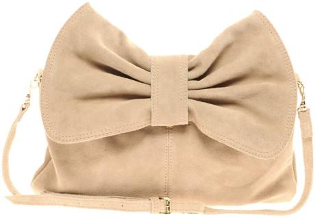 Mango Bow Clutch Bag in Beige | Lyst