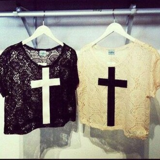 shirt lace black lace white lace cross black black cross white white cross top crop crop tops tank top t-shirt blouse lace blouse lace shirt vintage grunge summer summer top spring cool perfect fabulous great nice cute beautiful lovely