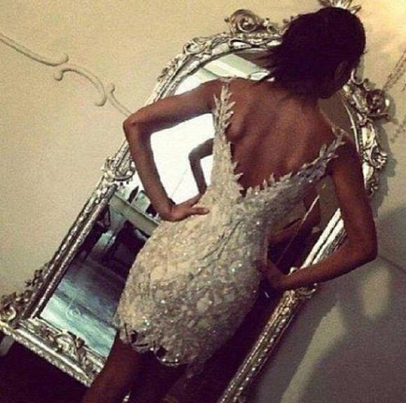 mirror dress nude prom dress nude dress perles