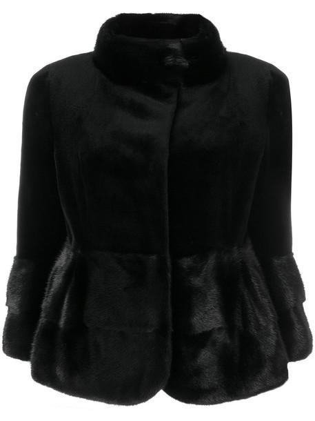 Cara Mila jacket fur women black