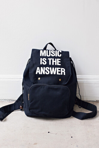 bag fashion style trendy black cool backpack quote on it back to school free vibrationz freevibrationz