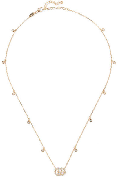 gucci necklace diamond necklace gold jewels