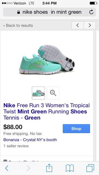shoes mint tropical twist nike free run