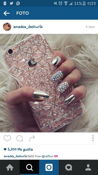 nail polish silver nail polish silver iphone 6 case