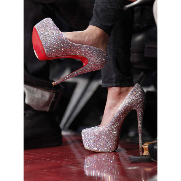 shoes red bottoms sparkle prom prom dress high heels