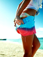 short,surf,shorts,blue,pink,purple,tie dye,dip dyed
