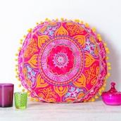 home accessory,pillow,home decor,bedroom,bedding,boho,boho chic,mandala,pink