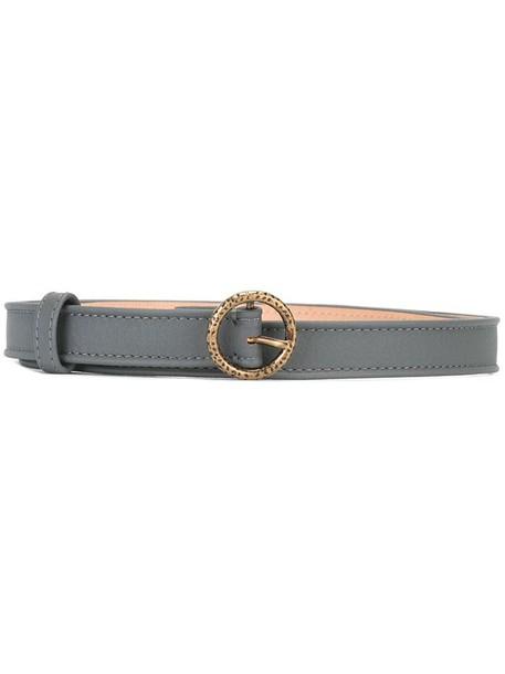 Agnona women belt leather grey