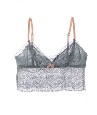 underwear lace bralette grey