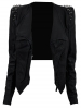 Clothing : jackets : 'kayley' studded leatherette jacket