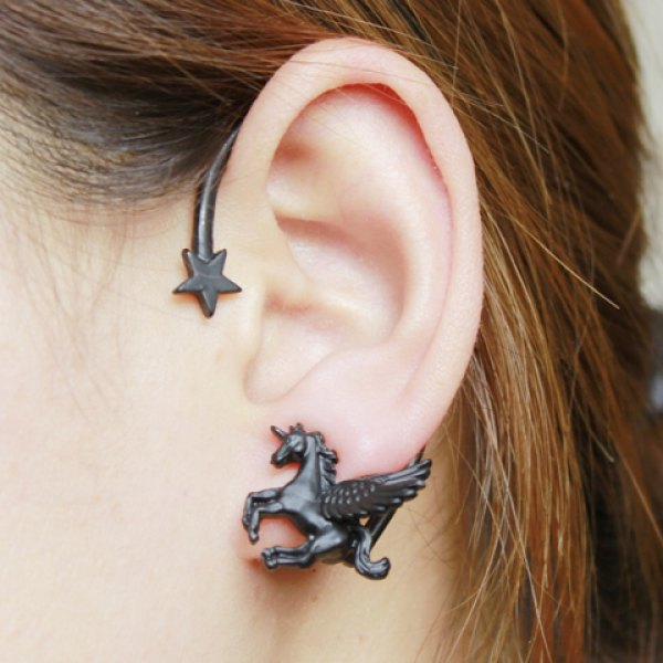 Black unicorn ear cuff · fashion struck · online store powered by storenvy