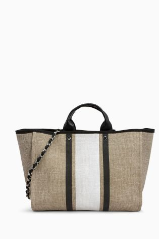 Neutral Stripe Beach Bag from the Next UK online shop