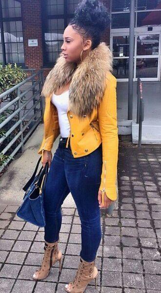 jacket streetstyle fashion swag heels jeans bag