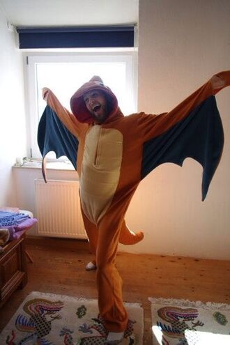 pokemon orange dragon onesie costume
