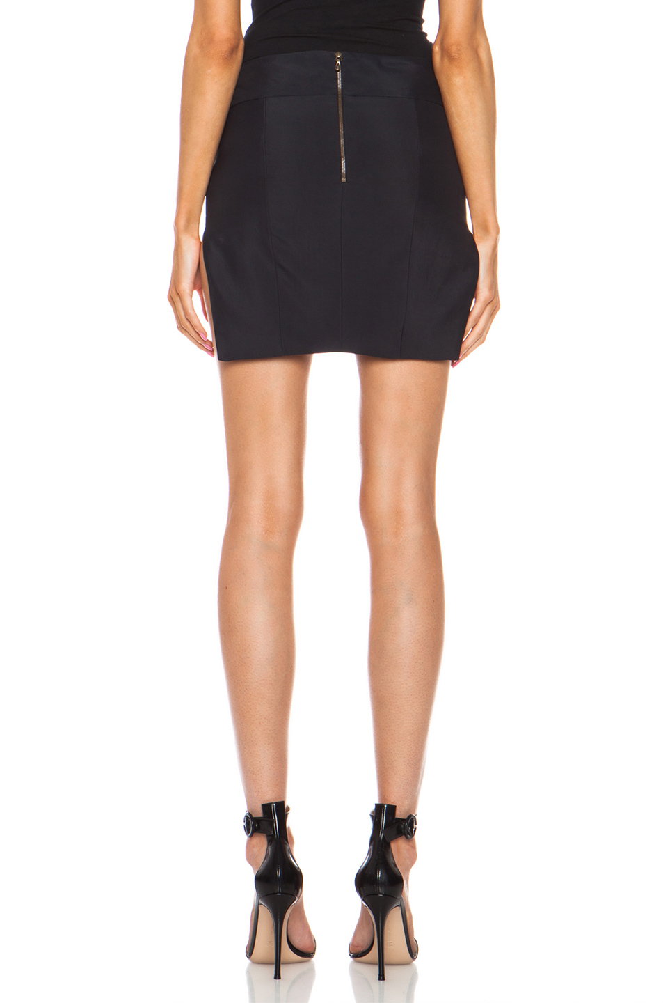 Anthony Vaccarello|Sharp Skirt in Black