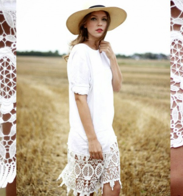 white dress streetstyle stylemoi summer outfits hipster dress