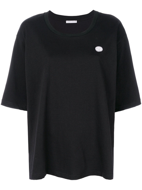 Société Anonyme t-shirt shirt t-shirt women cotton black top