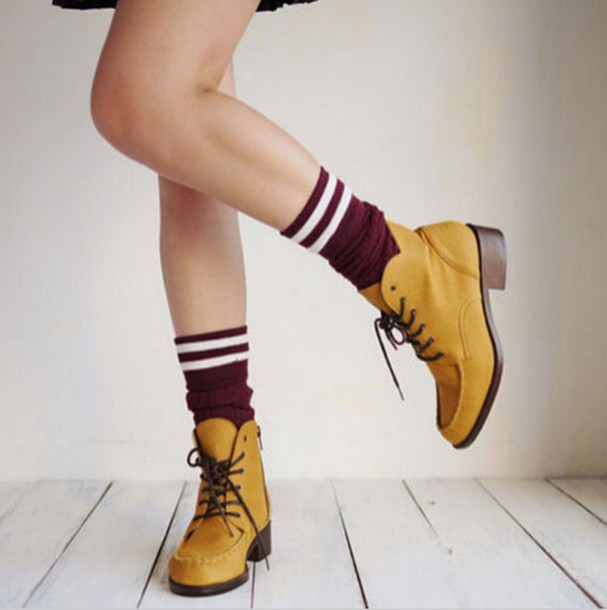 d35af936bcfa shoes vintage boots vintage knee high socks yellow funky shoes boots ankle  boots heel boots mustard