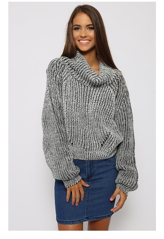 sweater knit knitwear turtleneck grey winter outfits warm warm sweater knitted sweater