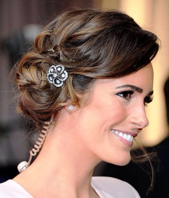 prom jewels silver side bun red carpet celeb hairstyles formal hairstyle formal bun ball prom hairstyle prom bun