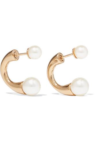 pearl earrings pearl earrings gold jewels