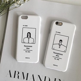 phone cover white tumblr id card armandin black basic cool cool phone case