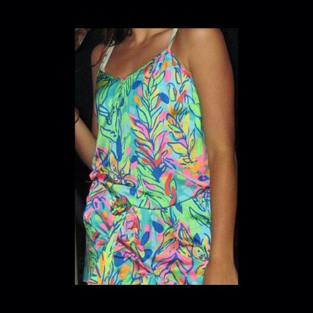 romper colorful pattern bright bright silky style fashion trendy