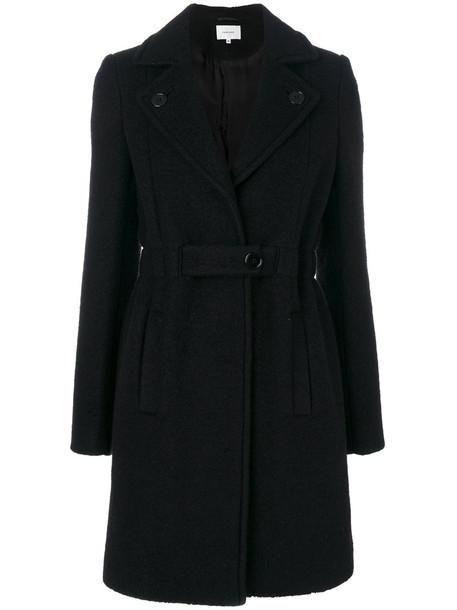 Carven coat women black wool