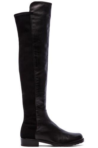 boot leather black