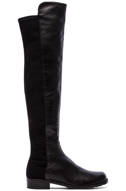 STUART WEITZMAN boot leather black