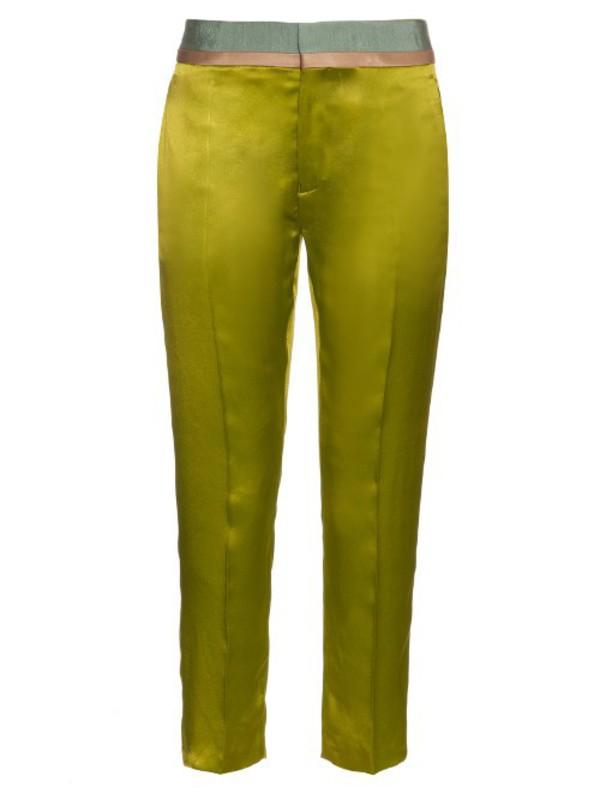 c068dd93c1 Adidas Originals By Alexander Wang Yellow Polar Fleece Jogger Pants