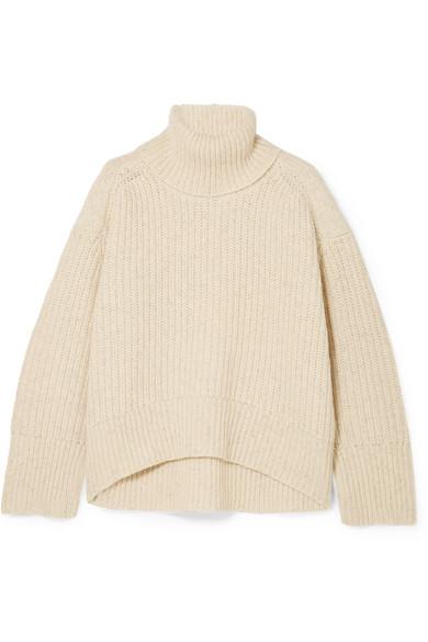 REMAIN Birger Christensen - Diana ribbed wool-blend turtleneck sweater